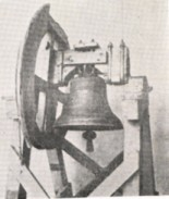 A photograph of Bridgeton's Liberty Bell. The bell proclaimed America's independence from the belfry of the court house, Bridgeton, upon the signing of the Declaration of Independence in 1776.